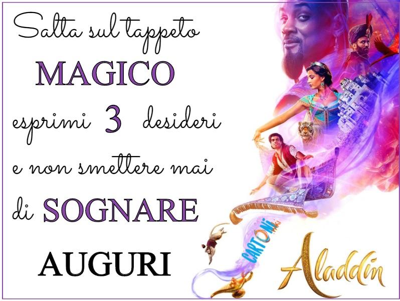 Biglietto di auguri Aladdin - Cartoni animati