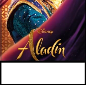 Inviti Aladdin festa di compleanno bambini con il Genio  - Cartoni animati
