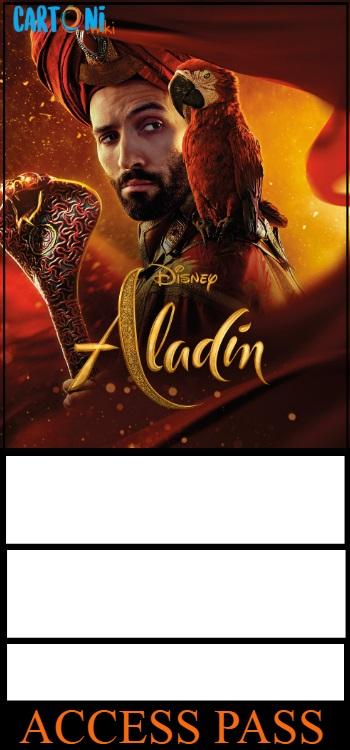Akim Aladdin invito compleanno - Cartoni animati