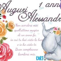 Alessandra auguri per il tuo primo compleanno  - Alessandra