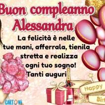 Auguri di buon compleanno Alessandra - Alessandra