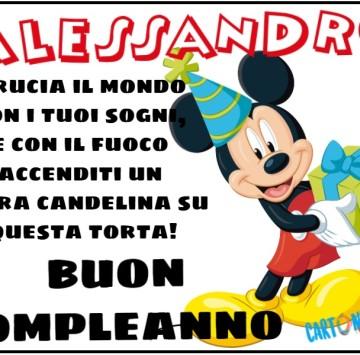 Alessandro buon compleanno - Cartoni animati