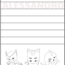 Alessandro impara a scrivere il nome - Alessandro
