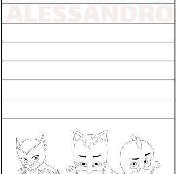 Alessandro impara a scrivere il nome - Cartoni animati