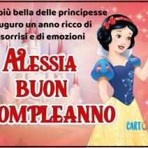 Alessia buon compleanno con Biancaneve - Alessia