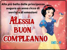 Alessia buon compleanno con Biancaneve