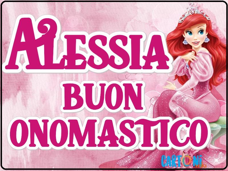 Alessia buon onomastico - Cartoni animati