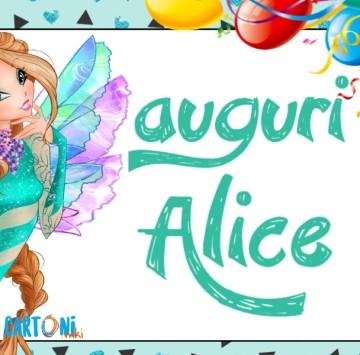Auguri Alice - Cartoni animati