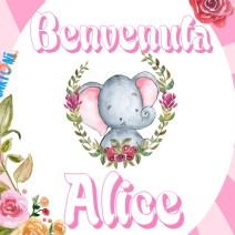 Alice benvenuta - Biglietto auguri nascita - Auguri nascita