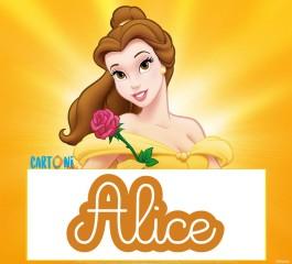 Alice etichette Disney La bella e la bestia