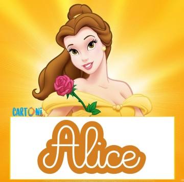 Alice etichette Disney La bella e la bestia - Cartoni animati
