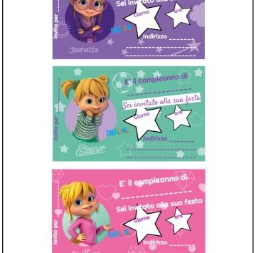 Alvin e i Chipmunks  inviti da stampare - Cartoni animati