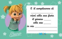 Invito compleanno Eleonor di Alvin and The Chipmunks - Template
