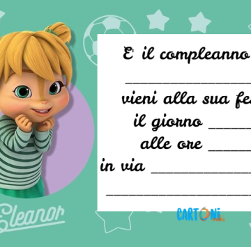 Invito compleanno Eleonor di Alvin and The Chipmunks - Cartoni animati