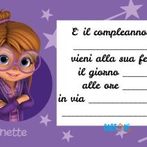 Invito compleanno Jeanette di Alvin and The Chipmunks - Template