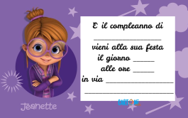 Invito compleanno Jeanette di Alvin and The Chipmunks