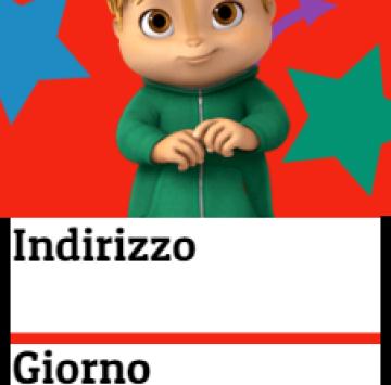 Theodore inviti feste di compleanno Alvin e i Chipmunks - Cartoni animati