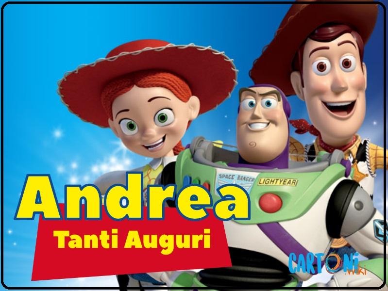 Andrea tanti auguri con Toy Story - Cartoni animati