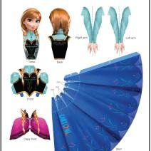 Anna Frozen bambola 3d  - Attività per bambini
