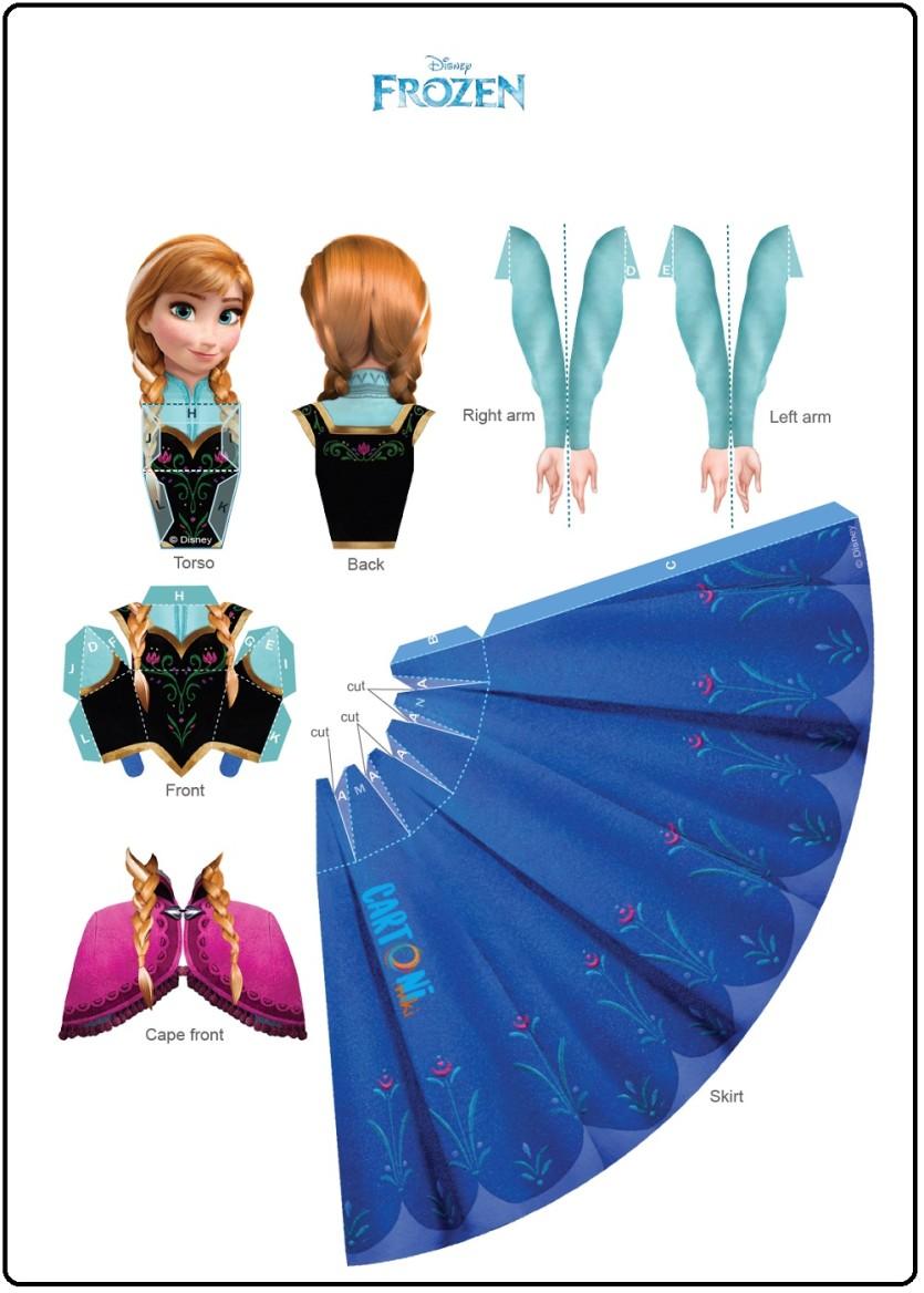 Anna Frozen bambola 3d  - Cartoni animati