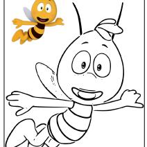 Ape Maia disegni per bambini - Disegni da colorare