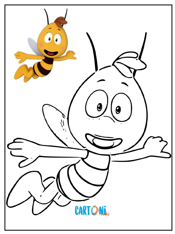 Ape maia disegni per bambini cartoni animati for Disegni da colorare e stampare ape maia