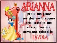 Buon compleanno Arianna 1 anno - Buon compleanno 1 anno