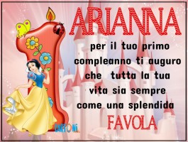 Buon compleanno Arianna 1 anno