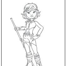 Selenia disegni da colorare Arthur e il popolo dei Minimei - Disegni da colorare