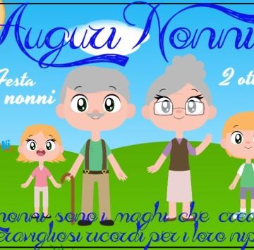 Auguri Nonni 2 ottobre - Cartoni animati