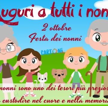 Auguri Festa dei nonni - Cartoni animati