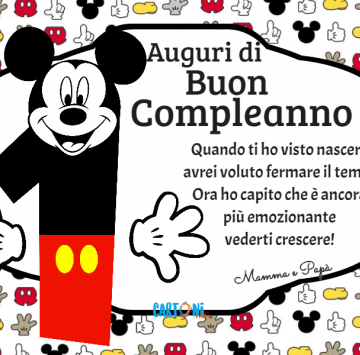 Auguri di buon compleanno 1 anno - Cartoni animati