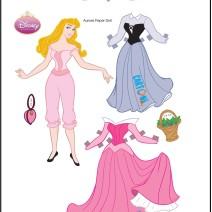 Aurora bambola di carta da stampare e vestire - Attività per bambini
