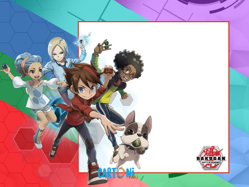 Bakugan Battle Planet inviti feste di compleanno - Cartoni animati