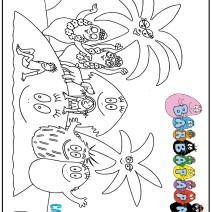 Disegno dei Barbapapà da stampare - Stampa e colora