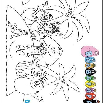 Disegno dei Barbapapà da stampare - Cartoni animati