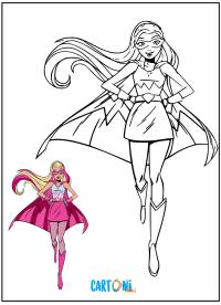Barbie Super Principessa da colorare - Disegni da colorare