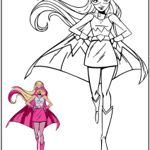 Barbie Super Principessa da colorare - Disegni da colorare