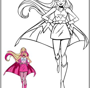 Barbie Super Principessa Da Colorare Cartoni Animati