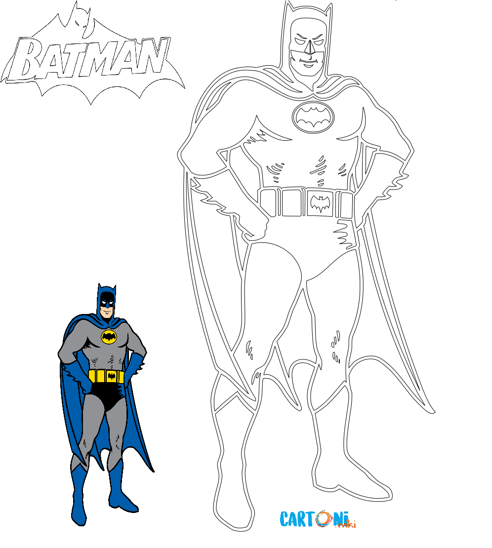 Colora Batman Cartoni Animati