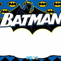 Batman Template - Inviti feste compleanno