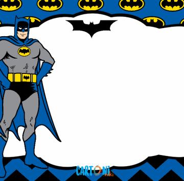 Batman invito compleanno - Cartoni animati