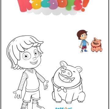 Bazoops disegni da colorare - Cartoni animati