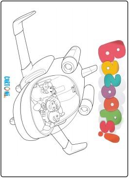 Bazoops disegno da colorare aereoplano