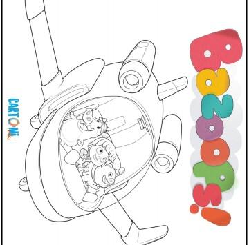 Bazoops disegno da colorare aereoplano - Cartoni animati