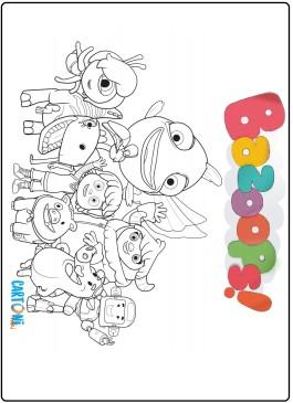 Disegni da colorare Bazoops con i personaggi