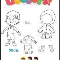 Bazoops colora, taglia e vesti - Attività per bambini