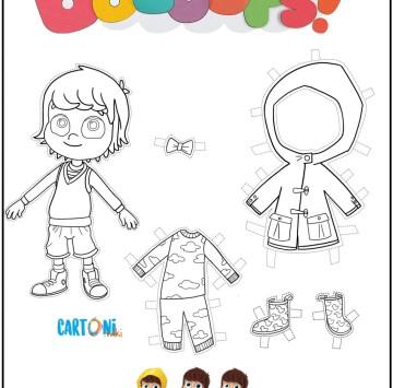 Bazoops colora, taglia e vesti - Cartoni animati