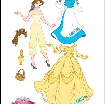 Belle Bambola di carta da stampare e vestire - Cartoni animati