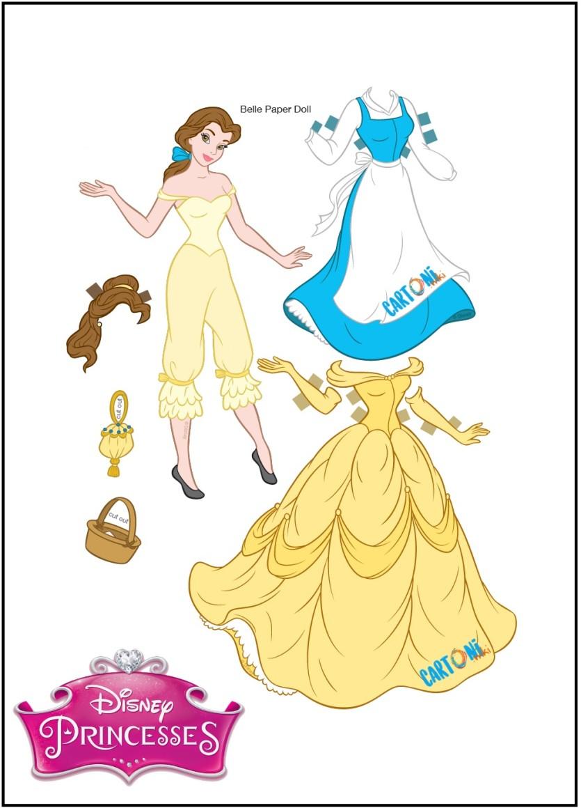 Belle Bambola Di Carta Da Stampare E Vestire Cartoni Animati